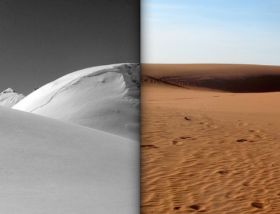 entre desert et neige